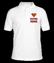 Футболка поло мужская Super Мама