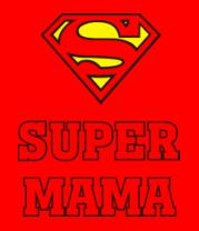 Мужская футболка с длинным рукавом Super Мама