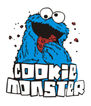 Коврик для мыши Cookie monster ест печеньку