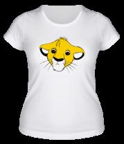 Женская футболка  Симба