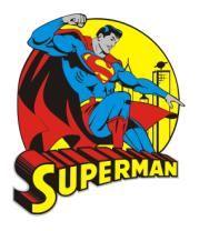 Футболка поло мужская Супермен на крыше