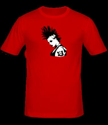 Мужская футболка  Punk-girl