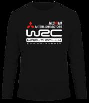 Мужская футболка с длинным рукавом Mitsubishi wrc