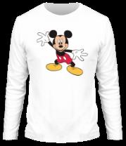 Мужская футболка с длинным рукавом Микки Маус восхищен