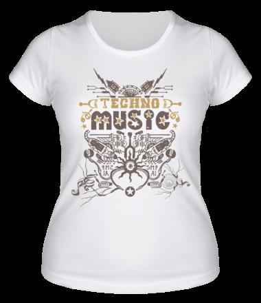 Женская футболка  TechnoMusic
