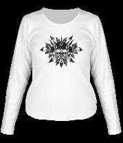 Женская футболка с длинным рукавом Череп