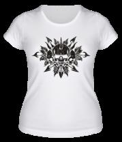 Женская футболка  Череп