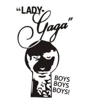 Мужская футболка с длинным рукавом Lady Gaga