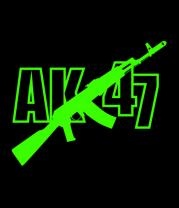 Женская футболка с длинным рукавом АК-47