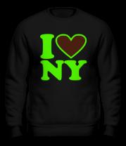 Толстовка без капюшона I Love NY
