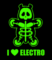 Мужская футболка  I love electro