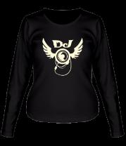 Женская футболка с длинным рукавом DJ