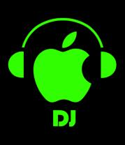 Мужская футболка с длинным рукавом Apple DJ