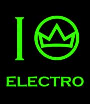 Толстовка без капюшона I love electro