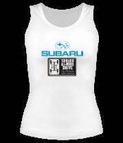 Женская майка борцовка Subaru