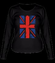 Женская футболка с длинным рукавом Британский флаг