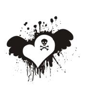 Мужская майка Сердце с черепком