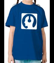 Детская футболка  Чел в наушниках
