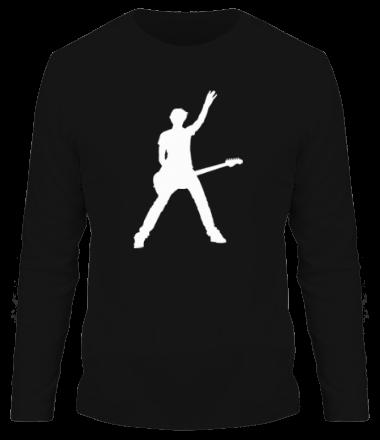 Мужская футболка с длинным рукавом Чувак с гитарой