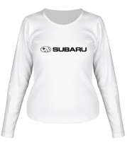 Женская футболка с длинным рукавом Subaru
