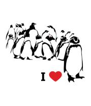 Мужская футболка с длинным рукавом I love пингвинс