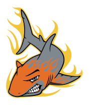 Мужская футболка  Акула