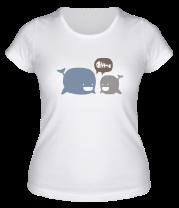 Женская футболка  Киты