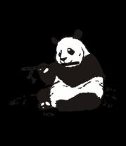 Мужская футболка с длинным рукавом Панда