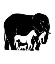 Коврик для мыши Слон-лошадь