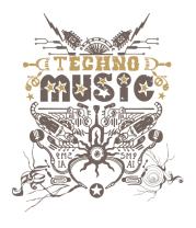Мужская майка TechnoMusic