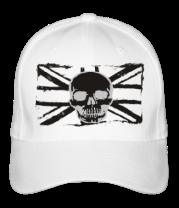 Бейсболка Британский флаг с черепом