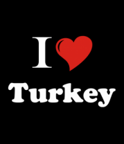 Шапка I love turkey