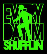 Женская футболка  Every day I'm SHUFFLIN