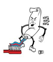 Толстовка без капюшона Зубная паста