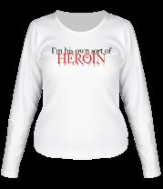 Женская футболка с длинным рукавом Twilight: Sort Of Heroin