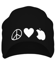 Шапка Peace Love Apple