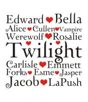 Женская футболка  Twilight heart