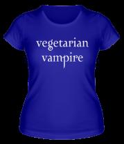 Женская футболка  Vegetarian vampire