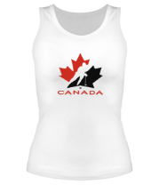Женская майка борцовка Canada