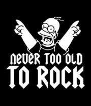 Детская футболка  Никогда не стар для рока