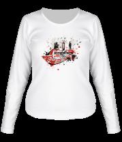 Женская футболка с длинным рукавом Skate