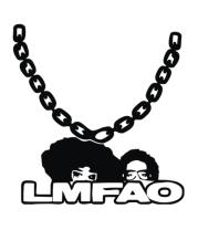 Женская майка борцовка LMFAO на цепи