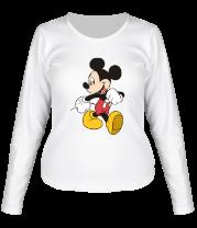 Женская футболка с длинным рукавом Микки Маус идет