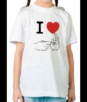 Детская футболка  I love sex