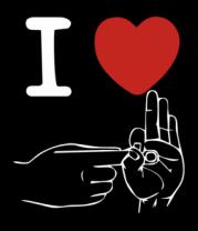 Мужская футболка с длинным рукавом I love sex