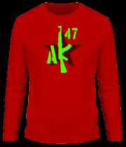 Мужская футболка с длинным рукавом АК-47 Русский огонь