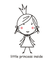 Футболка для беременных Little princess inside