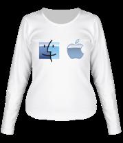 Женская футболка с длинным рукавом Apple Mac OS