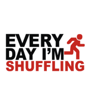 Мужская футболка  Every Day I'm Shufflin