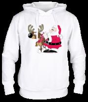 Толстовка Дед Мороз с оленем